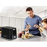 Aigostar Warrior 30JRL - 2-Scheiben Toaster, 7 Toast Bräunung Einstellung, Auftauen, Aufwärmen und Abbrechen Funktionen 750W, Schwarz, BPA frei. EINWEGVERPACKUNG. - 6