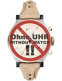 Fossil Uhrband Wechselarmband LB-ES3786 Original Ersatzband ES 3786 Uhrenarmband Leder 18 mm Beige
