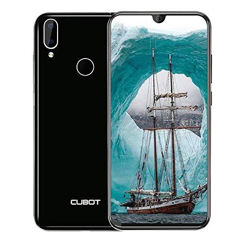 "CUBOT R19 (Neueste) 4G Günstige Smartphone ohne vertrag 5.71"" HD+ Display (1520x720) Quad-Core 3GB RAM + 32GB ROM Kamera 13MP+8MP,2800mAh Akku Android 9.0 Dual Nano SIM,Face ID Fingerabdruck -Schwarz"