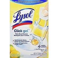 Lysol Click Gel Auto Toilet Bowl Cleaner 4ct Citrus
