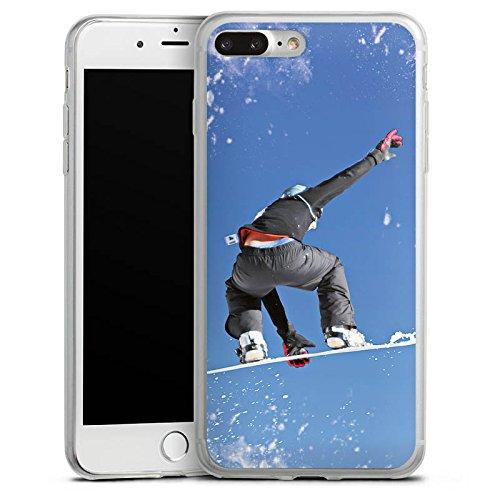 Apple iPhone 8 Slim Case Silikon Hülle Schutzhülle Snowboard Sprung Wintersport Silikon Slim Case transparent