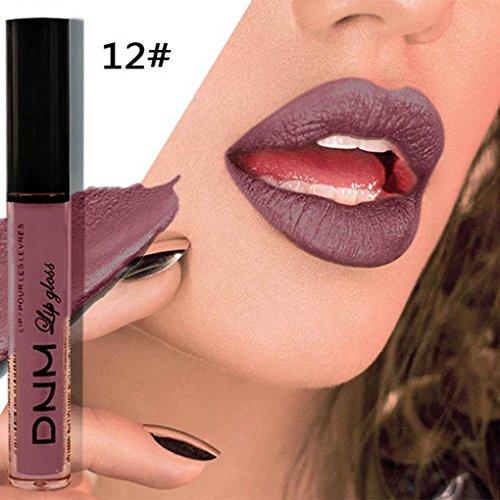Lipgloss, Huihong DNM 19 Farben lang anhaltende 24 Stunden Lippenstift wasserdicht matte flüssige Lipgloss Kosmetik Lip Liner für sexy Damen (Sexy-11#)
