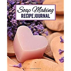 Soap Making Recipe Journal: A Procedures Ingredients Notebook for Home Based Business, Pink Soap Heart