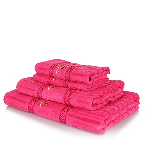 Rangoli Gavik 340 GSM Fancy Towel Set Of 4 Pcs....