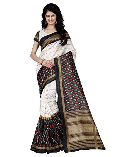Trendz Bhagalpuri cotton silk saree(TZ_1019)  available at amazon for Rs.399