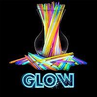 SWIPPLY | عصي متوهجة في الظلام لمستلزمات الحفلات | (100 قطعة من 7 ألوان) ألعاب ممتعة ماجيك جلو ستيك | سوار وقلادة رائعة للأطفال والكبار عصا الضوء | ألعاب لحفلات عيد الميلاد والهالوين