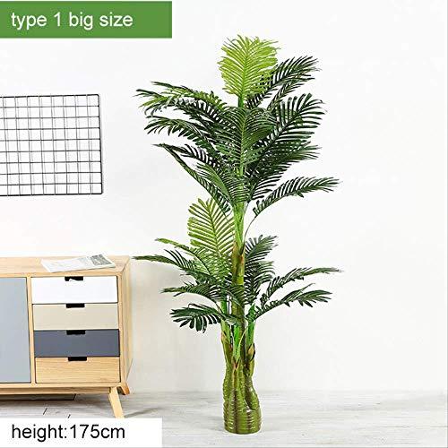 JHZHK Eukalyptus Kokospalme Künstlicher Baum Lebensechte Stamm Garten Töpfe Landschaft Pflanzen Dekoration Büro Für Hotel zu Hause Hochzeit Farbe