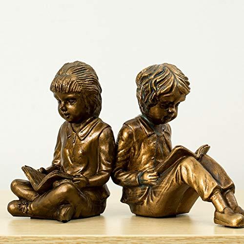 k, American Home Handmade Boy und Girl Block Book Dekoration, einfache Wohnzimmer Weinschrank Arbeitszimmer Dekoration - 15 * 17cm / 9,5 * 15,5cm ()