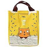 Sac Isotherme Lunch Bag Partable Cabas Thermique Pour DéJeuner Sacs De Pique-Nique Toile Portable Pour Hommes Femmes Enfants Travail Ecole Pique-Nique