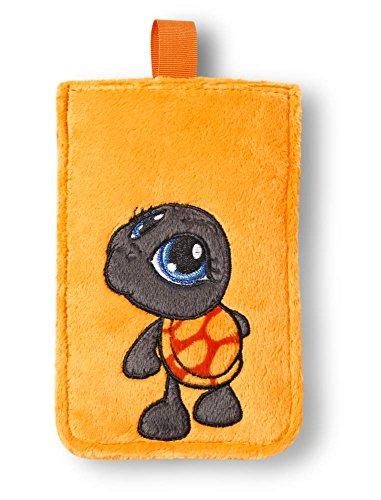 Nici - Funda de Smartphone de peluche Tortuga 10x15,5cm, color naranja (38687)