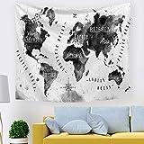 Paño de la Pared tapicería de Arte de exportación Colgante de Tela Dormitorio decoración Mapa del Mundo nórdico 211368 230 * 150 cm