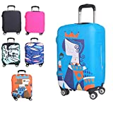 Kofferschutzhülle Elastische Kofferhülle Reisekoffer Hülle Koffer Schutzhülle Abdeckung Luggage Cover mit Reißverschluss (Königin, L)