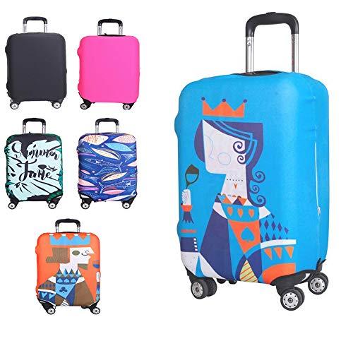 Kofferschutzhülle Elastische Kofferhülle Reisekoffer Hülle Koffer Schutzhülle Abdeckung Luggage Cover mit Reißverschluss (Königin, S)