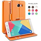 Coque Samsung Galaxy A3 (2016), TheBlingZ.® Housse Etui Cuir PU Coque pour Samsung Galaxy A3 (2016) - Orange