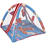 BabyShower Kids Bedding Set With Mosquito Net, Hanging Toys & Pillow For Baby - Blue