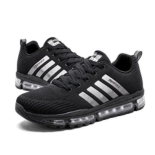 Fexkean Unisex Sportschuhe Laufschuhe Turnschuhe Atmungsaktiv Sneakers Air Sport Casual Shoes Herren Damen - 4