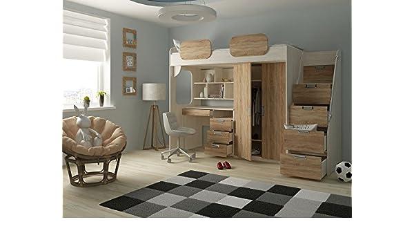 Etagenbett Geko : Hochbett geko rustikal farbe hell amazon küche