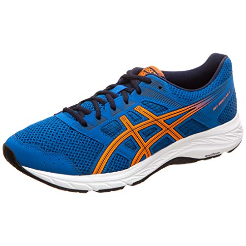 ASICS Herren Gel-Contend 5 Laufschuhe, Blau (Lake Drive/Shocking Orange 404), 45 EU (Lake Schuhe)