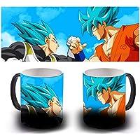 Taza Magica Sensitiva Al Calor - Vegeta Goku Blue