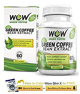Wow Green Coffee Weight Management Supplement (60 Veg Capsules) with Free Wow Slim Massager