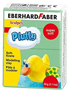 Eberhard Faber 571463-Super Soft plastilina pluffy, 32g, Verde