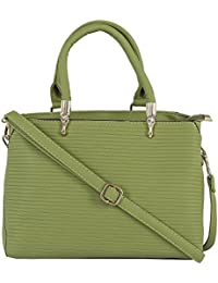 LE CUERO Green Hand Bag For Women