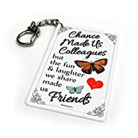 Beenanas Chance Made Us Colleagues Fun Laughter Key Chain Keyring