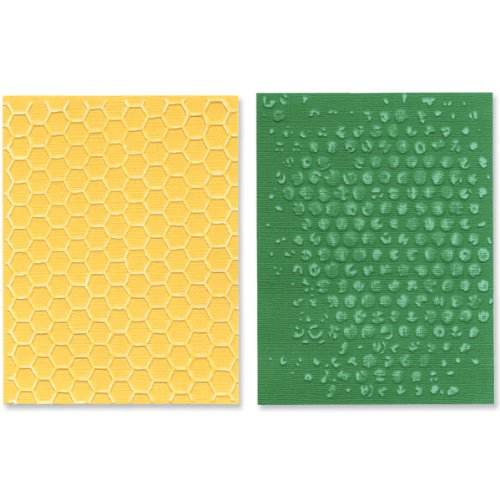 Sizzix Texture Fades Embossing Folders By Tim Holtz 2/Pkg-Bubble & Honeycomb -