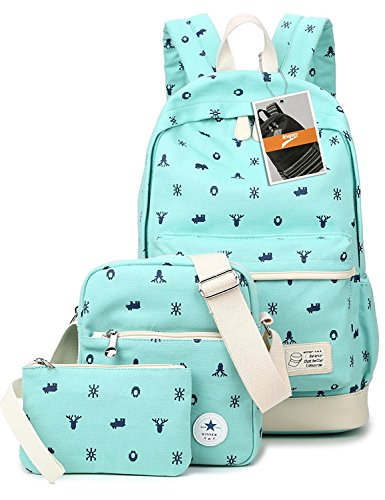 leaper-bolsa-escolar-water-blue-3pcs
