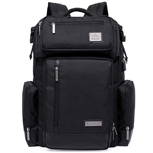 KaKa Notebook Rucksack Multi Outdoor Ruacksack Große Kapazität Tasche + abnehmbarer Set Tasche Taille Schwarz