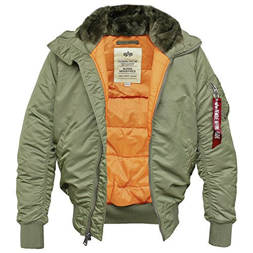 Alpha Industries MA-1 Hooded Fliegerjacke Blouson Sage-Green