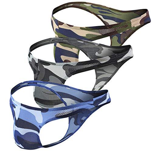 Pingtr - Herren sexy Doppel Tanga Spitze,Herren Sexy Unterwäsche Transparent Durchsichtig Shorts Hot Lip Print Unterhose