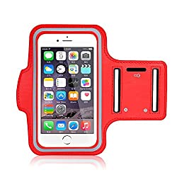Go Crazzy Arm Band Workout Cover Sport Gym Case With Screen Proptector For Apple Iphone X (2017) (Red)