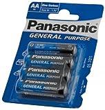 Panasonic Typ AA–R61,5V–um3- MN1500Stilo Zink Carbon Allgemeine Zwecke