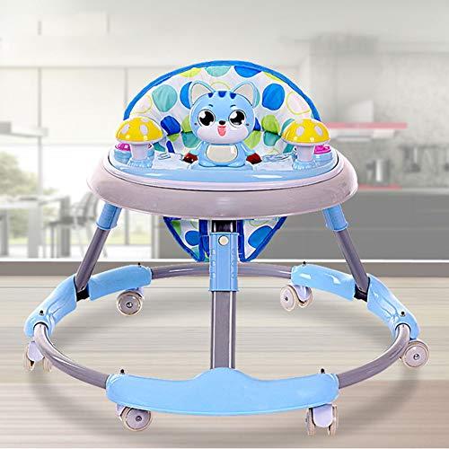 ker Mit Rädern/Wanderer Für Kinder Auto Kleinkind Walker Für Kinder Lernen Baby Wallker Musik Balance,Blue ()