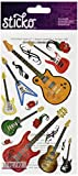 Classic Sticko Stickers-Guitare Rock