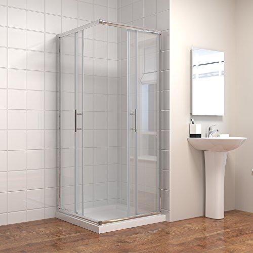 Duschkabine mit Eckeinstieg und Doppelschiebetüren - 2
