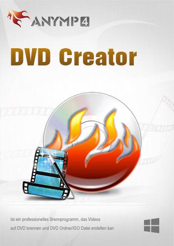 AnyMP4 DVD Creator 1 Year License - Videos auf DVD mit Menü Brennen, DVD Ordner/ISO-Abbild erstellen [Download]