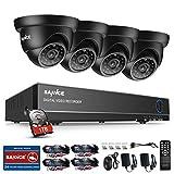 SANNCE TVI Kit de Vidéosurveillance 8CH Full 720P HDMI DVR Système de Surveillance Sécurité - 4 Dôme Caméras Vision Nocturne - Accèss à Distance via Smartphone ou PC - avec 1TB Surveillance Disque Dur