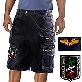 bermuda pilota acrobatico, pantalone corto aviazione, clu, uomo.