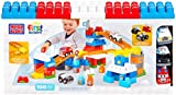 Mega Bloks Toy - First Builders Playset - Fast Tracks Rescue Team - 100 Piece for Ages 1-5