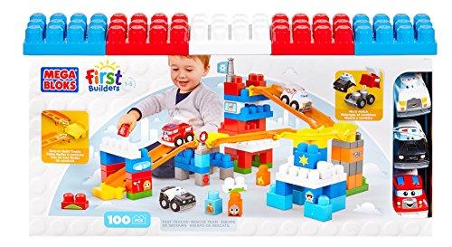 First Builders - Coches en la Ciudad, juego de construcción, 100 piezas (Mega Brands 81271)
