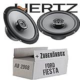 Lautsprecher Boxen Hertz X 165-16cm Koax Auto Einbauzubehör - Einbauset für Ford Fiesta MK7 Front Heck - JUST SOUND best choice for caraudio