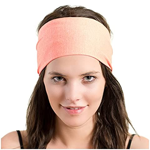 Lightweight Sports Headband - Moisture Wicking Sweatband - Ideal for Running, Cycling, Hot Yoga and Athletic Workouts - Designed for Women Borrowed by Men - by Red Dust