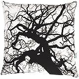 Baum Kissen, Kissenbezug, alte Bäume, Wendekissen, 50x50cm, schwarz-weiß