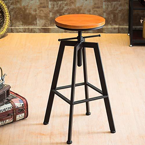 L.BAN Barstühle Drehhocker Barhocker Fußstütze rund Holzsitz Küche Frühstück Kneipentheke