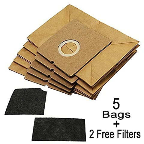 First4Spares 5 Dust Bags + 2 Filters For Morphy Richards Jive Vacuum Cleaners (Equiv 73150000)