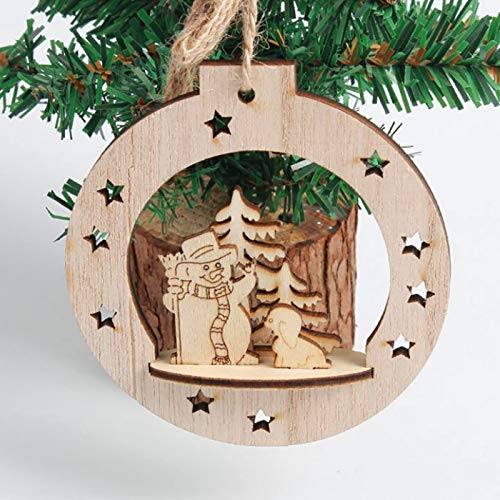 Pendant & Drop Ornaments - Wooden Carved Christmas Tree Pendant Decor Diy Party Hanging Gift Home Festival - Miss Lipstick Lip Lipstick Rose Ornaments Miss Santa Rose Toy Claus 3d Makeup Ca (Santa Miss Claus Und)
