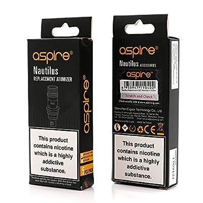 Authentische Aspire Nautilus BVC Coils, 1 Pack of 5 Ersatz Coil Verdampferköpfe, 5pcs Aspire Nautilus Mini Bottom Vertikal Coil 1.8 Ohm von aspire.
