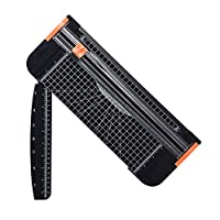 A4 Paper Cutter 12 Inch Titanium Paper Trimmer Scrapbooking Tool with Automatic Security Safeguard and Side Ruler for Craft Paper, Coupon, Label and Cardstock